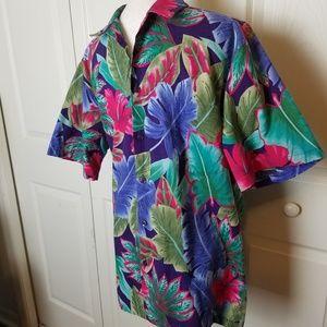 Hilo Hattie Shirts - Hilo Hattie Vintage Men Hawaiian Shirt Large
